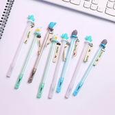 【BlueCat】藍白仙人掌CACYUS拉繩中性筆 水性筆