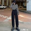 黑色運動褲女寬鬆束腳2021新款秋冬季直筒顯瘦百搭加絨休閒衛褲子 米娜小鋪