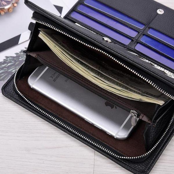 皮夾 男款錢包新款男士手包時尚手提男土多功能男式包包手拿包長款 城市科技