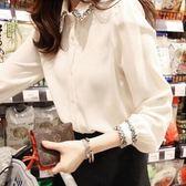 韓范雪紡襯衫女裝長袖襯衣上衣寬鬆韓版