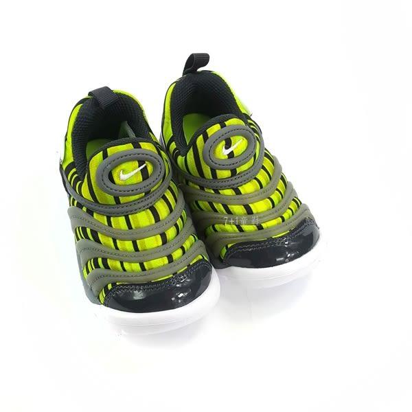 小童NIKE DYNAMO FREE輕量毛毛蟲鞋運動鞋 學步鞋 《7+1童鞋》 E827 綠色