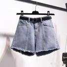 牛仔短褲女高腰2020新款夏季顯瘦寬鬆a字潮熱褲外穿闊腿大碼胖mm LF4579『東京衣社』