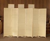 新中式竹編屏風客廳房間臥室行動折屏簡約現代摺疊隔斷墻遮擋家用 ATF 夏季新品