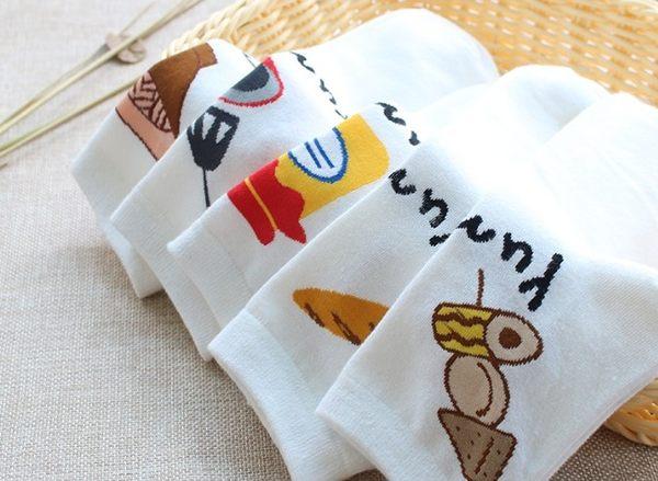 [協貿國際]春秋純棉短襪女生創意廚房系列棉襪