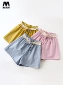 女童短褲2021新款透氣兒童短褲時尚裙褲子女童洋氣夏裝裙褲潮衣薄 米娜小鋪