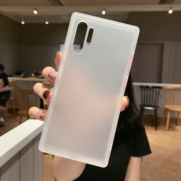 現貨 撞色邊框 磨砂殼 三星 Note8 Note10 Plus 手機殼 霧面 半透明 保護殼 全包 軟邊 防指紋 保護套