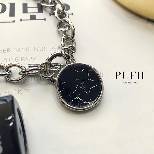 PUFII-手鍊 大理石圓環銀手鍊-1116 現+預 冬【CP13794】