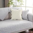 四季通用沙發墊全棉布藝棉質坐墊簡約現代防...