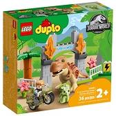 樂高積木 LEGO《 LT10939 》Duplo 得寶系列 - T. rex and Triceratops Dinosaur Breakout / JOYBUS玩具百貨