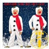 聖誕節兒童雪人表演服紅鼻子男女童演出服裝【雲木雜貨】