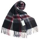 S.T.Dupont 羊駝毛混紗時尚格紋圍巾(黑色系)989120-3