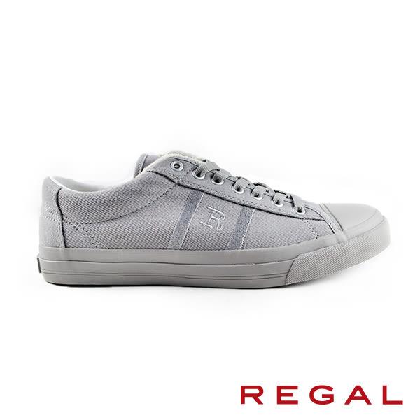 【REGAL】休閒時尚運動帆布男鞋 灰色(60KR-GRY)