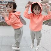 網紅女童秋季1運動套裝2019年新款3歲女寶寶2嬰兒童裝0洋氣春秋款