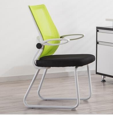 弓形透氣網布電腦椅家用現代簡約懶人靠背辦公室椅子-HYQ