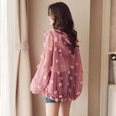 防曬衣女短款夏季新款正韓寬鬆bf歐根紗學生開衫薄款短外套女