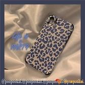 韓版手機保護套藍色豹紋適用蘋果iphone11手機殼promax軟8plus/x/xr/se/7【小獅子】