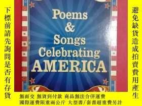 二手書博民逛書店Poems罕見and Songs Celebrating Ame