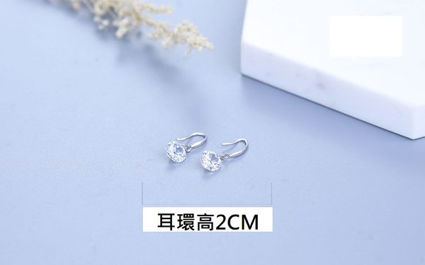 925純銀閃鑽耳環.120048款純銀耳環.萌萌豬生活館