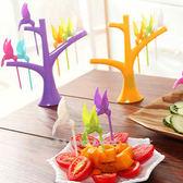 創意樹梢小鳥水果叉 6支裝 時尚可愛環保水果叉子