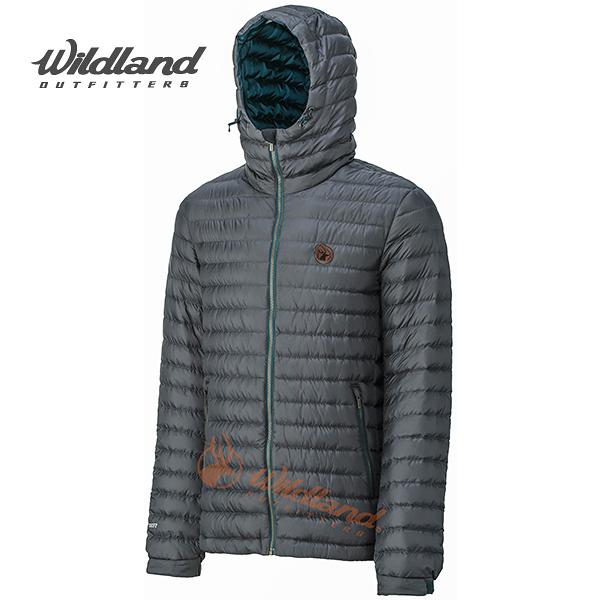 荒野Wildland 700FP連帽輕量羽絨外套 防風/保暖羽絨大衣//羽絨服 (中灰)(0A32112-92) 男~特惠5折