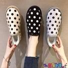 雪地靴 棉鞋女冬加絨加厚一腳蹬外穿短筒雪地靴2021冬季家居鞋學生面包鞋寶貝計畫 上新