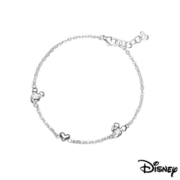 Disney迪士尼系列銀飾 相戀純銀手鍊
