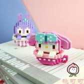 小顆粒拼裝積木立體益智玩具兼容樂高成人拼圖【桃可可服飾】