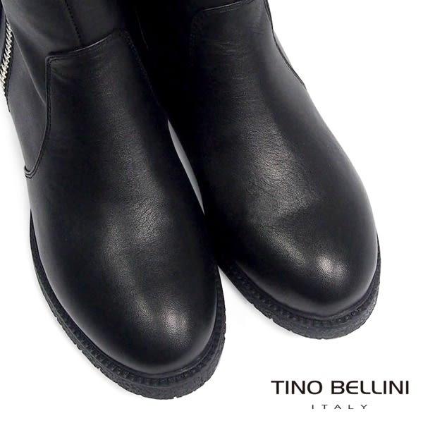 Tino Bellini中性雙拉鍊低跟短靴(黑)_CL2220 2015AW
