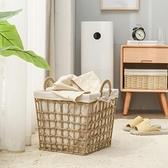 小號髒衣籃家用浴室收納籃收納筐草編洗衣籃玩具筐【樂淘淘】