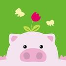 LOVIN 超萌韓版數字油畫動物系列可愛粉紅豬(11) 1幅