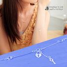 心之芳庭 鏤空愛心鎖鑰匙手鍊 925純銀手鍊 - 維克維娜