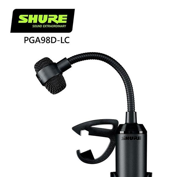 SHURE PGA98D-LC心形電容鼓麥克風-原廠公司貨