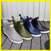 短筒雨鞋男士冬季加絨棉保暖雨靴防滑防水鞋膠鞋套鞋廚師廚房鞋