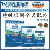 *KING WANG*Natural Balance 特級田園全犬配方-小顆粒 狗糧4.5磅 //補貨中
