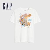 Gap男童GapxWarnerBros怪物奇兵系列純棉短袖T恤889666-白色