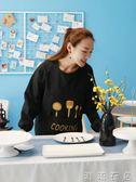 廚房圍裙長袖防水防油韓版時尚罩衣成人女男士家用工作服訂製logo  潮流衣舍