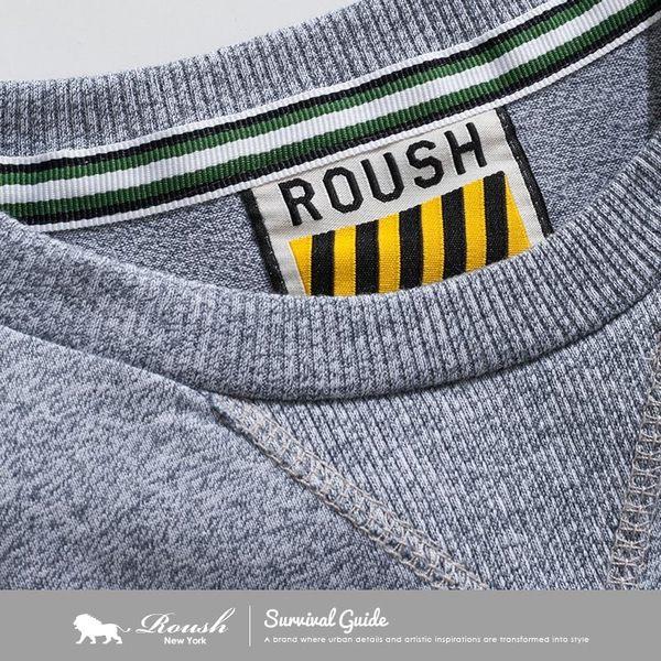 【Roush】 高磅數賽洛棉圓領長TEE -【712517】
