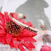 DW Daniel Wellington / DW00400003 / Small 典雅精緻拋光設計不鏽鋼手鐲 玫瑰金色 15.5cm
