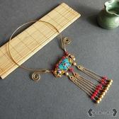 瓔珞項圈 古典漢服中式流蘇項鍊復古配飾結婚飾品 - 雙十一熱銷
