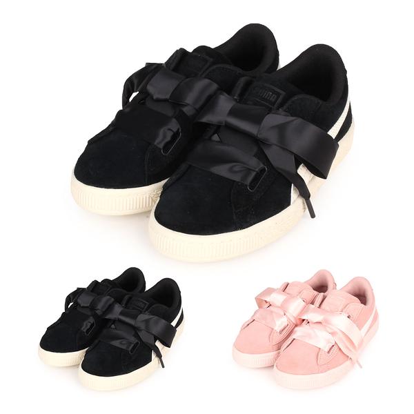PUMA Suede Heart Jewel PS 女兒童休閒運動鞋(慢跑 緞帶 寶石≡體院≡ 365139