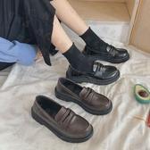 娃娃鞋 日系學院風百搭女中學生棕黑皮鞋動漫女仆萬用lolitaJK制服鞋-10週年慶