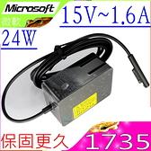 Microsoft 1735,1736 微軟變壓器- 15V,1.6A,24W,Surface Pro3 Pro4 m3 i5,Surface GO Surface GO2,Surface Pro 1 RT 1521