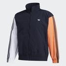 Adidas SHADOW TREFOIL WINDBREAK 男裝 外套 風衣 休閒 立領 防風 撞色 拼接 藍 【運動世界】FM1537