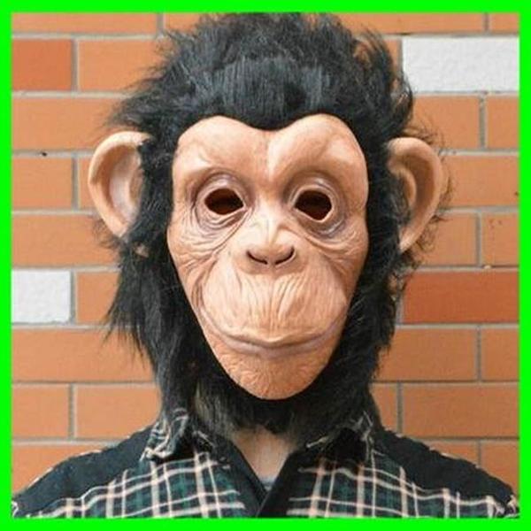 萬聖節 猩猩 猴子 猴頭 猩球崛起 面具/眼罩/面罩 cosplay 派對 變裝 生日【塔克】