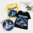 蝙蝠俠發光胸口卡通短袖上衣 黑色 發光 ...