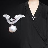 胸針 胸口防走光胸針女珍珠百搭襯衫別針配飾固定胸花開衫紐扣毛衣扣針 小天後