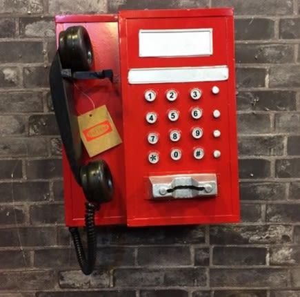 [協貿國際]   掛式電話機擺件掛飾咖啡廳擺件陳列裝飾品  (1入)