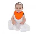 紐西蘭 Mum 2 Mum 機能型神奇三角口水巾圍兜-橘 吃飯衣 口水衣 防水衣