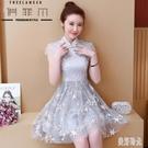 2020夏季新款中國風年輕少女小個子顯瘦短款漢服改良旗袍式連身裙 PA15806『美好时光』