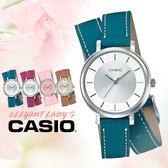CASIO手錶專賣店 國隆 CASIO_LTP-E143DBL-3A 真皮錶帶 礦物玻璃 50米防水